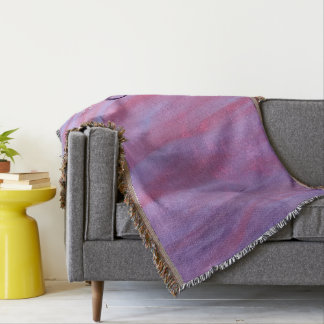 Adaptable Decor | Name Chic Pink Purple Zebra | Throw Blanket