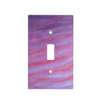 Adaptable Decor | Purple Pink Abstract Zebra | Light Switch Cover
