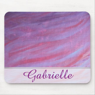 Adaptable Desk | Name Pink Purple Zebra Stripe Mouse Pad