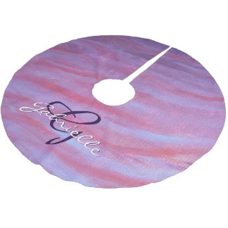 Adaptable Holiday | Custom Pink Purple Fun Zebra | Brushed Polyester Tree Skirt