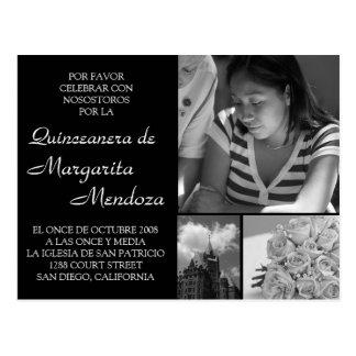 Adaptable Quinceanera Invitacion Tarjeta Postcard
