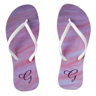 Adaptable Style | Custom Girly Pink Purple Zebra | Flip Flops