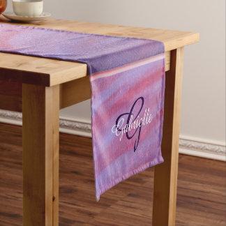 Adaptable Table   Name Chic Pink Purple Zebra   Short Table Runner