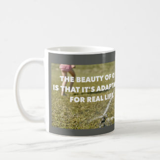 Adaptable to Real Life & Scared But Trying Coffee Mug