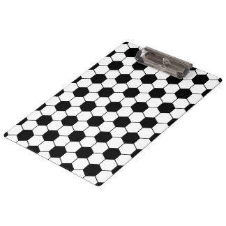 Adapted Soccer Ball pattern Black White Clipboards