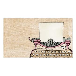 adaptez votre carte de visite de machine à écrire