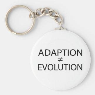 Adaption vs. Evolution Basic Round Button Keychain