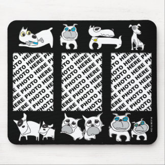 Add 3 Photos Mousepad White Dogs