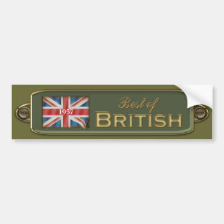 Add A Date Best Of British Bumper Sticker