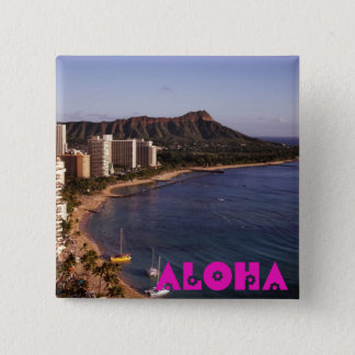 Add a Hawaiian Vacation Photo 2 Inch Square Button
