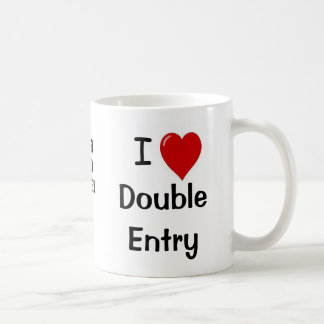 Add A Logo I Love Double Entry Funny Quote Classic White Coffee Mug