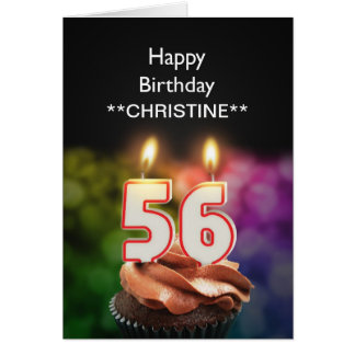 Add a name, 56th birthday card