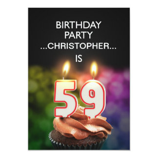 Add a name, 59th Birthday party Invitation