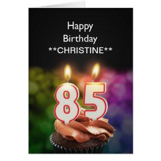 Add a name, 85th birthday card