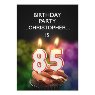Add a name, 85th Birthday party Invitation