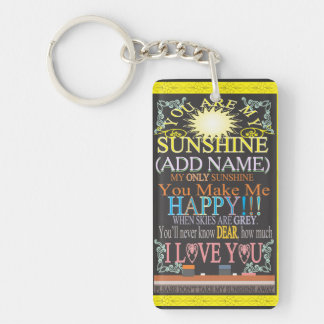 Add a Name Sunshine Vintage Chalkboard Keychain