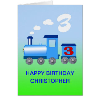 Add a name to a 3rd birthday card