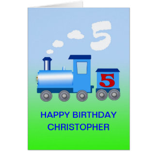 Add a name to a 5th birthday card