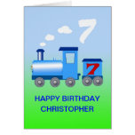 Add a name to a 7th birthday card