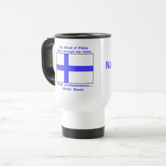 Add a Name to Finn Blood and Beer Travel Mug