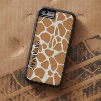 Add a Name Trendy Giraffe Print iPhone 6 Case