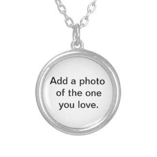 Add a photo of the one you love. silver plated necklace