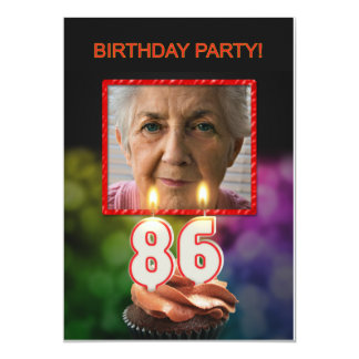 Add a picture, 86th Birthday party Invitation