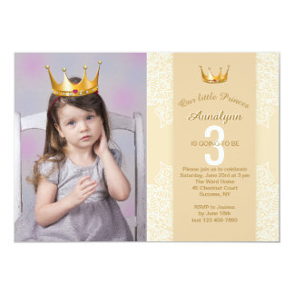 Add A Princess Crown To Your Photo Invitation