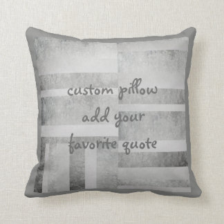 add a quote pillow gray abstract design