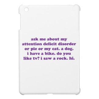 ADD ADHD Funny Quote - Purple iPad Mini Cases