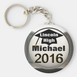 Add Any Name 2016 Graduation Silver Keychain