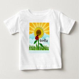 Add Baby Name to Sunshine and Sunflower T-Shirt