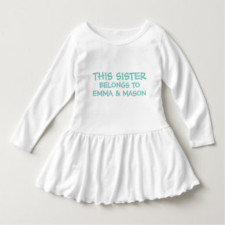 Add brother/sister names on little sister's dress