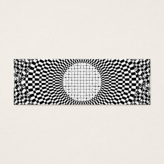 Add Custom Monogram to Optical Illusion Center Mini Business Card