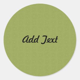 Add Custom Text Invite Round Sticker