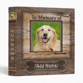 Add Dog Photo Memorial Vinyl Binder