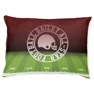 Add Dog's Name. All-American Football Player. Large Dog Bed