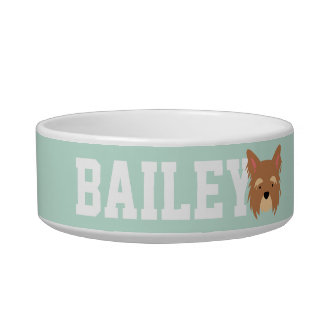 Add Dog's Name. Kawaii Cute Little Puppy Dog. Bowl
