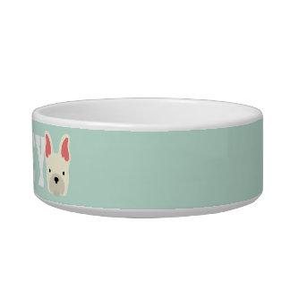 Add Dog's Name. Kawaii Cute Little Puppy Dog. Pet Food Bowls