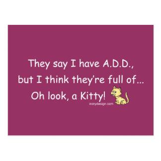 ADD full of Kitty Humor Postcard