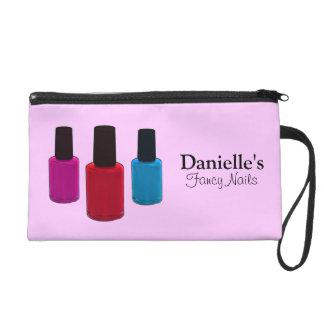 Add Her Name, Finger Nail Polish Beauty Bag Wristlet Purses
