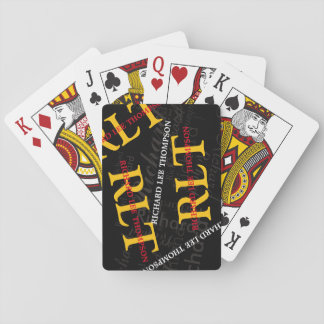 add initials and name to get a personalized playing cards