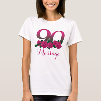 Add name 90th birthday number custom T-Shirt