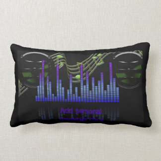 Add name Cool DJ Sound level Engineer Music gifts Lumbar Pillow
