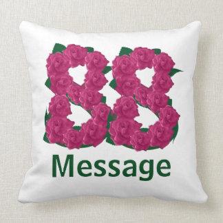 Add name custom text 88 88th birthday throw pillow