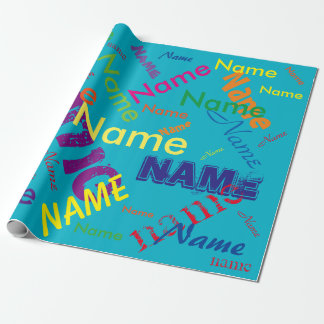 "Add Name Custom Wrapping Paper 30"" x 6'"
