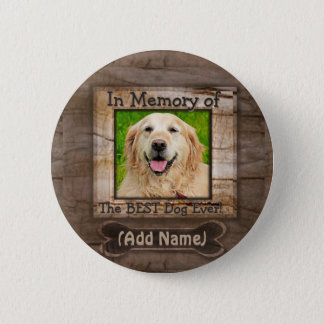Add Name | Dog Memorial 2 Inch Round Button