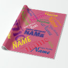 "Add Name Happy Birthday Wrapping Paper 30"" x 6'"