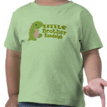 Add Name Little Brother Dinosaur Print T Shirts
