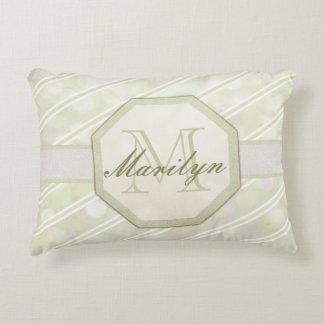 Add Name | Monogram | Stripe Accent Pillow